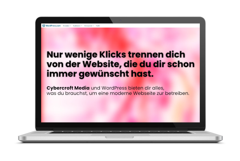 Webseiten Mockup